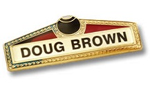 Bowls Metal Name Badge - B2