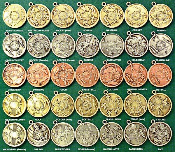 standard traditional medallions