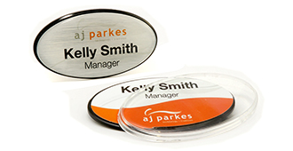 Small and Large Oval Name Badge