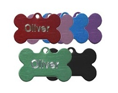 Aluminium Bone Pet Tags