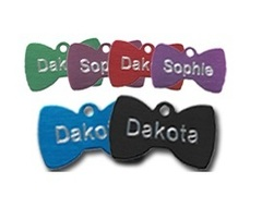 Aluminium Bowtie Pet Tags