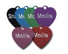 Aluminium Heart Pet Tags