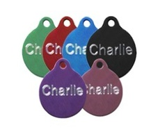 Aluminium Round Pet Tags