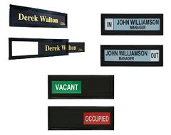 Name Plates   Desk & Door Signs   Engraved Name Plates - AJ