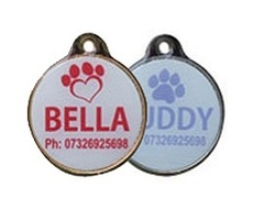 Full Colour Round Shaped Pet Tags