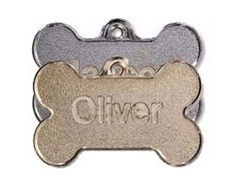 Metal Bone Shaped Pet Tags