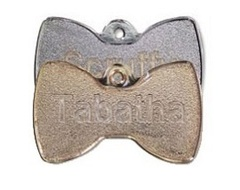 Metal Bowtie Shaped Pet Tags