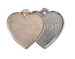 Metal Heart Shaped Pet Tags