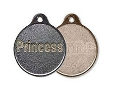 Metal Round Shaped Pet Tags