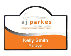 Oval Top Name Badge