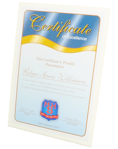 Free Standing Certificate Signs