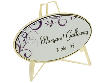 Wedding Name Plate With Stand