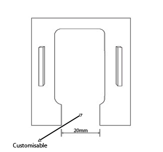standard partition desk plate size